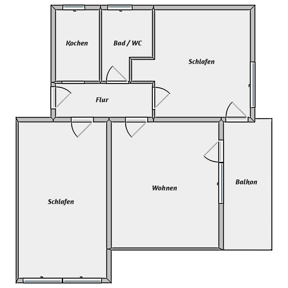 Wohnungstyp I - Grundriss