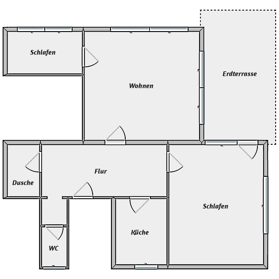 Leibgedinghaus EG - Grundriss