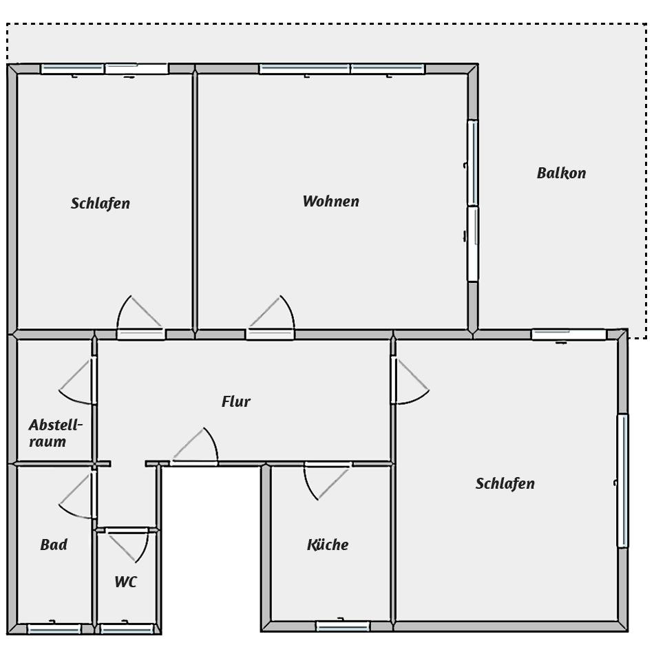 Leibgedinghaus 1. OG - Grundriss