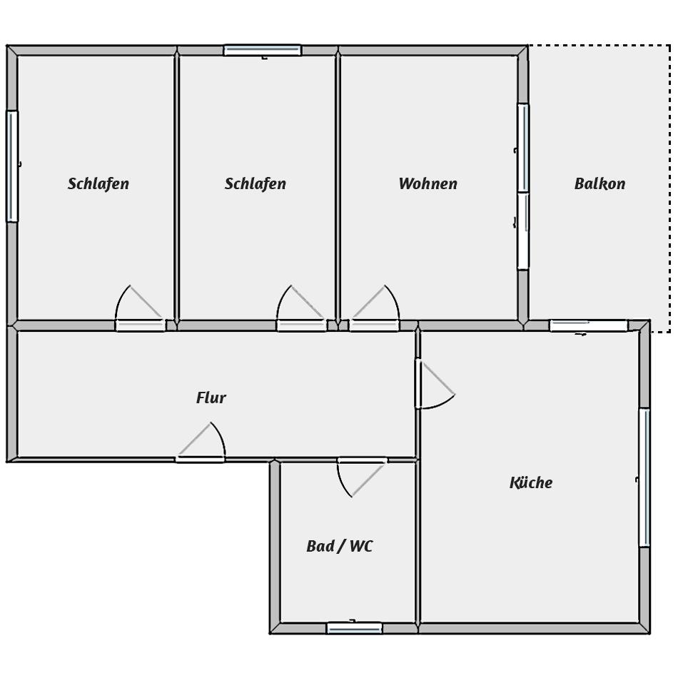 Leibgedinghaus 2. OG - Grundriss