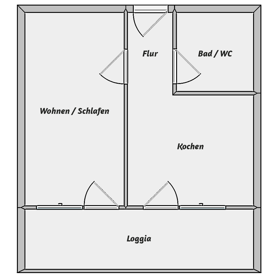 Wohnungstyp III - Grundriss