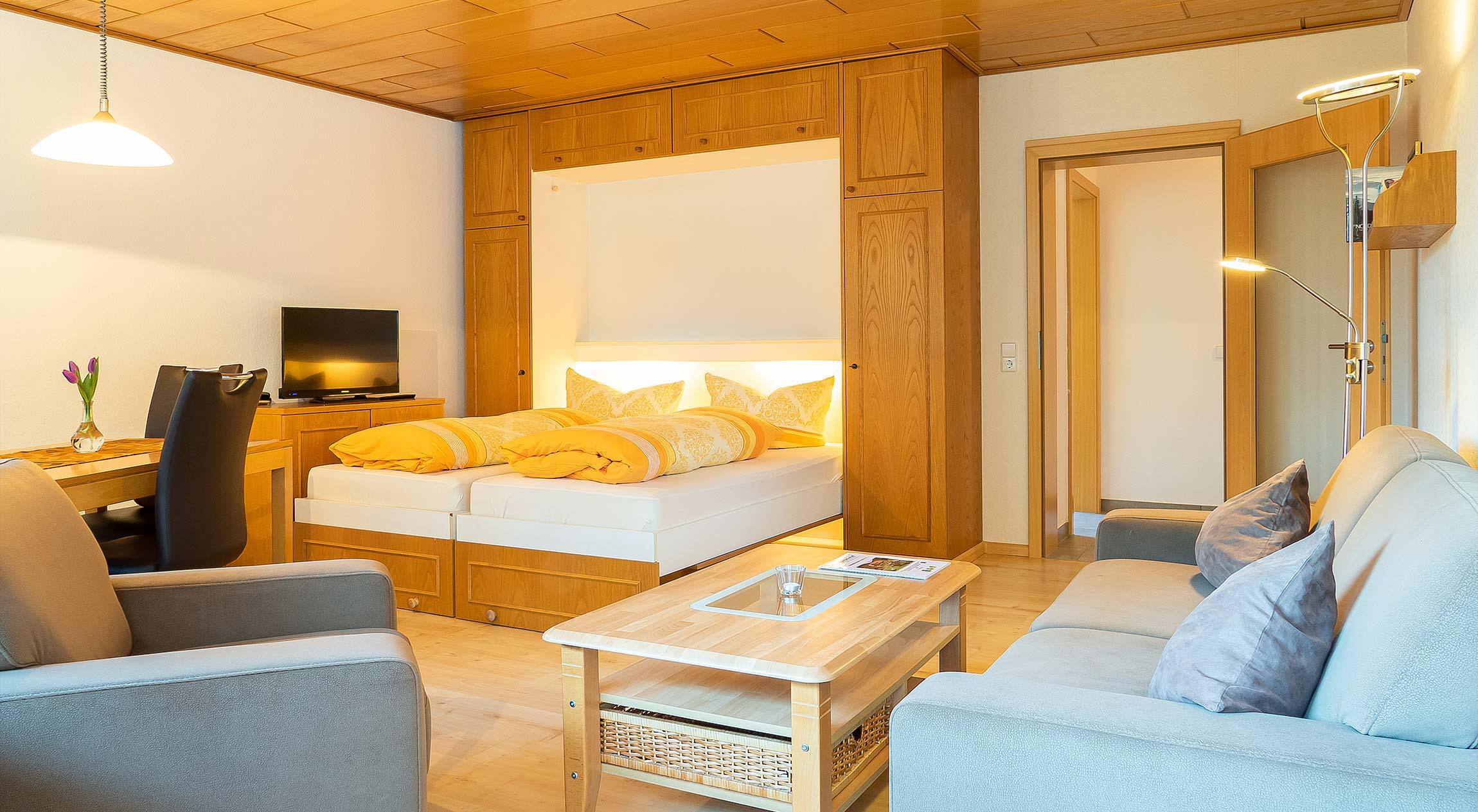 Wohnungstyp II - Wohnschlaufraum mit Betten