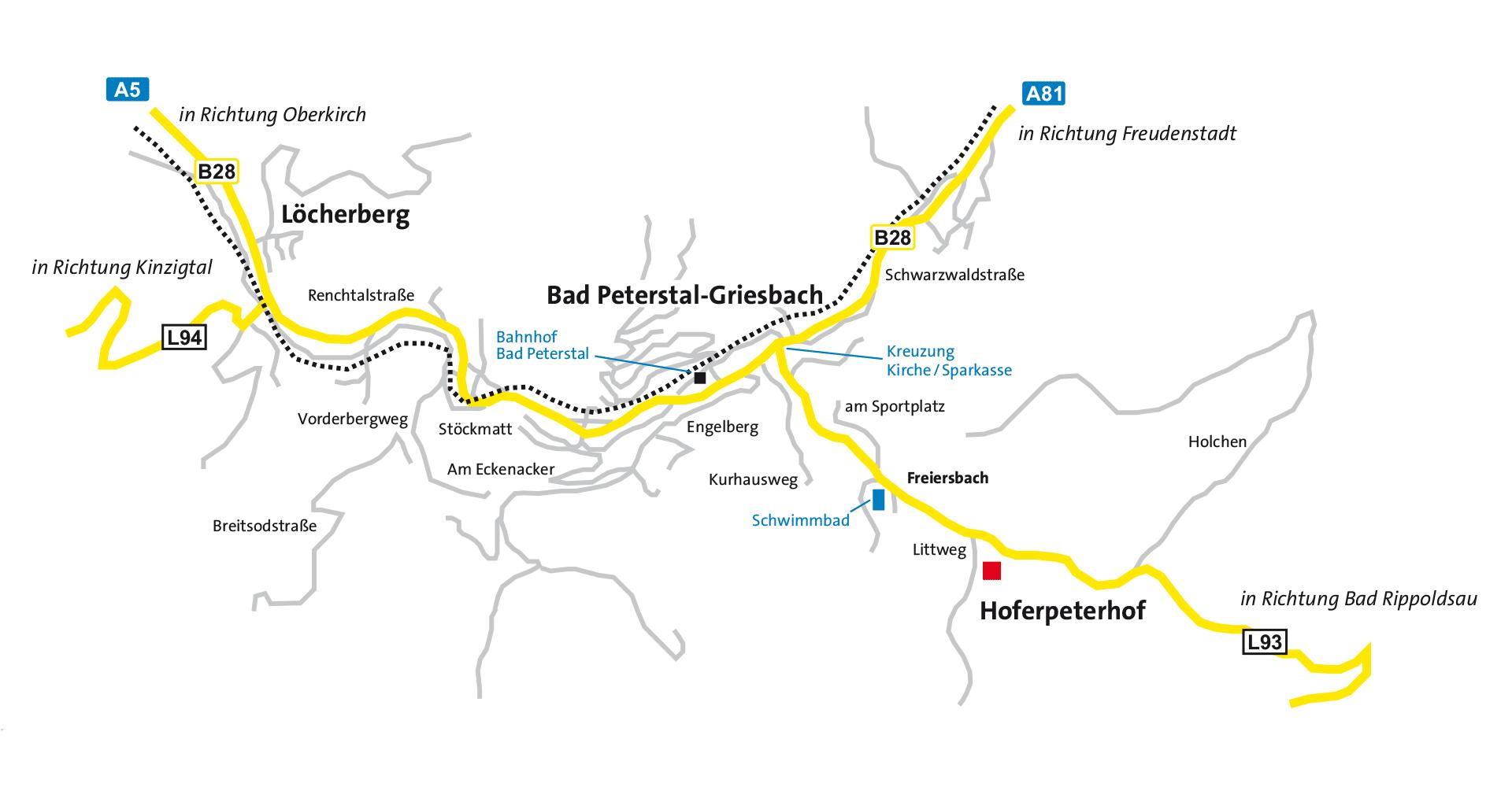 Anfahrtsplan Hoferpeterhof
