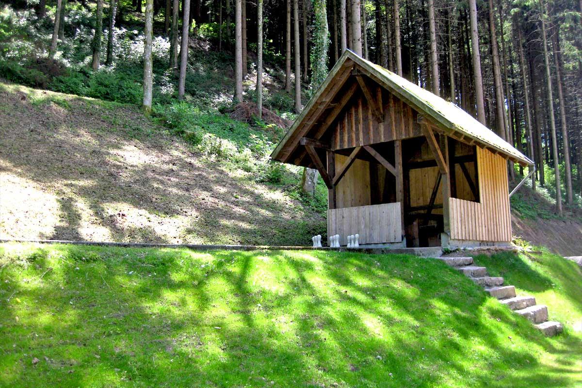 Freiluftkegelbahn vom Hoferpeterhof im Schwarzwald