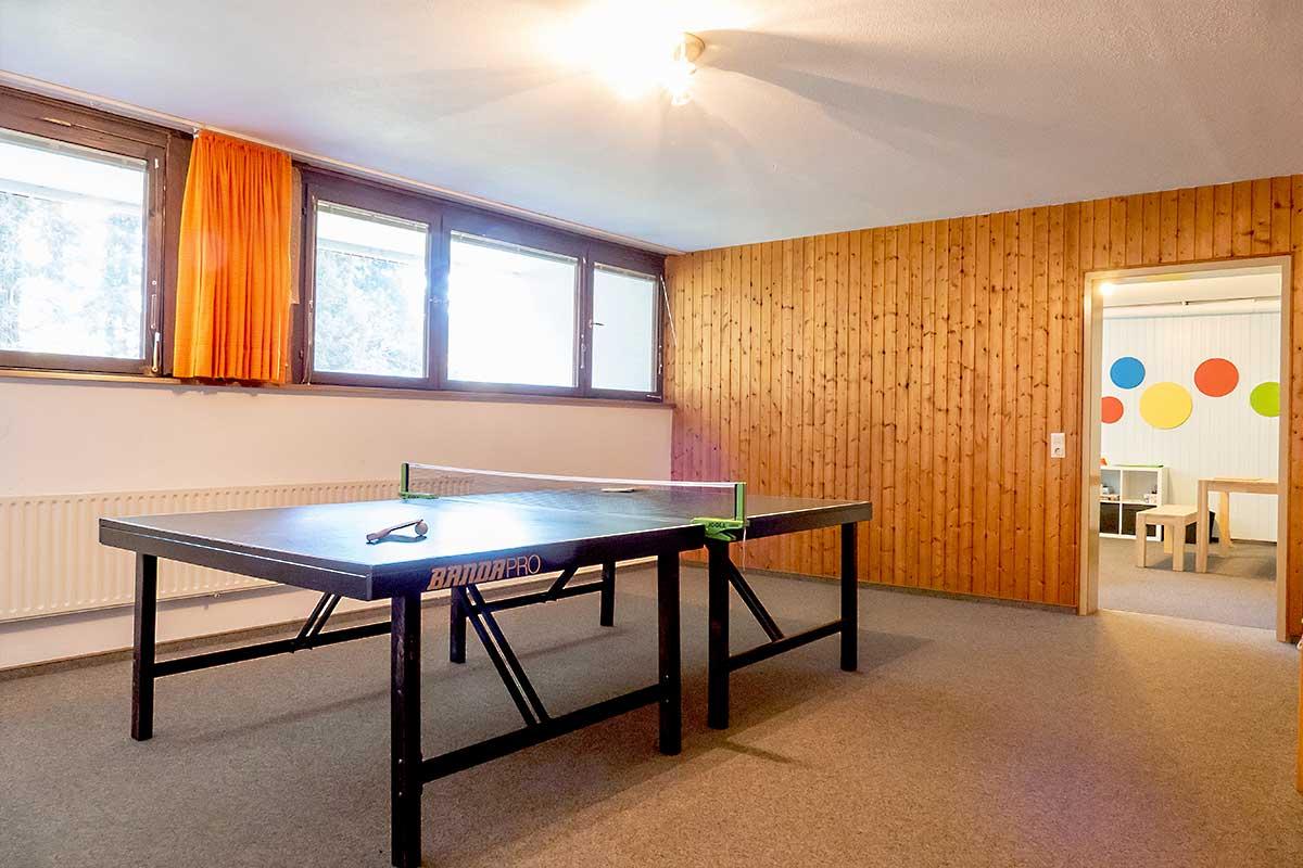 Tischtennisraum für unsere Feriengäste